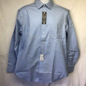 NWT Jos A Bank Men Blue Dress Shirt Traveler 16.5